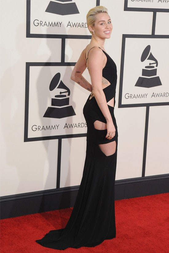 Miley Cyrus at the 57th Grammy Awards, February 2015.
