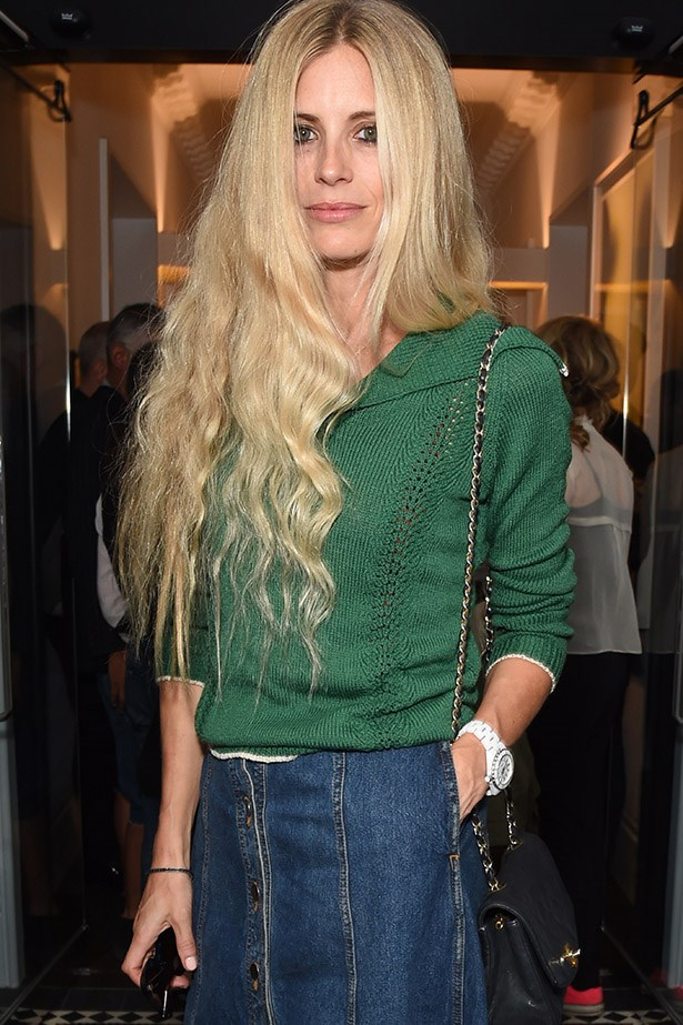 Laura Bailey adds a sweater for a relaxed but chic look that will pretty much take you anywhere.