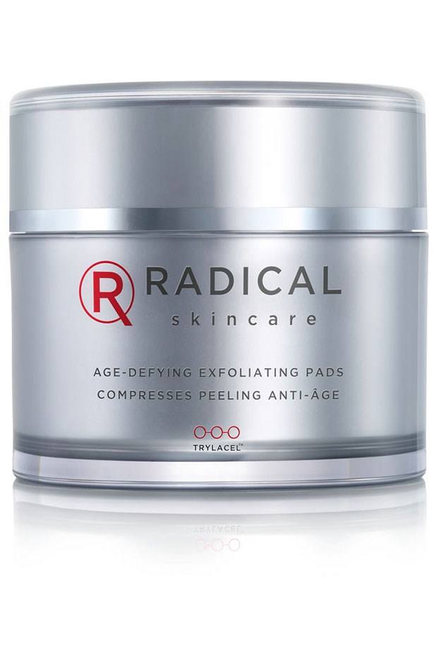 """<strong>Entry-level acids</strong> <br> <br> If you're prone to congestion, or you live somewhere humid or you sometimes feel like your skincare isn't working, these idiot-poof chemical exfoliating wipes work wonders. Densely soaked in a AHA and BHA blend, you can actually feel them working to remove dead skin cells, shrink pores and tighten the skin. They're also champions at curing ingrown hairs. <br> <br> <a href=""""http://mecca.com.au/radical-skincare/age-defying-pads/V-018503.html""""> <em>Age Defying Pads, Radical</em></a>"""