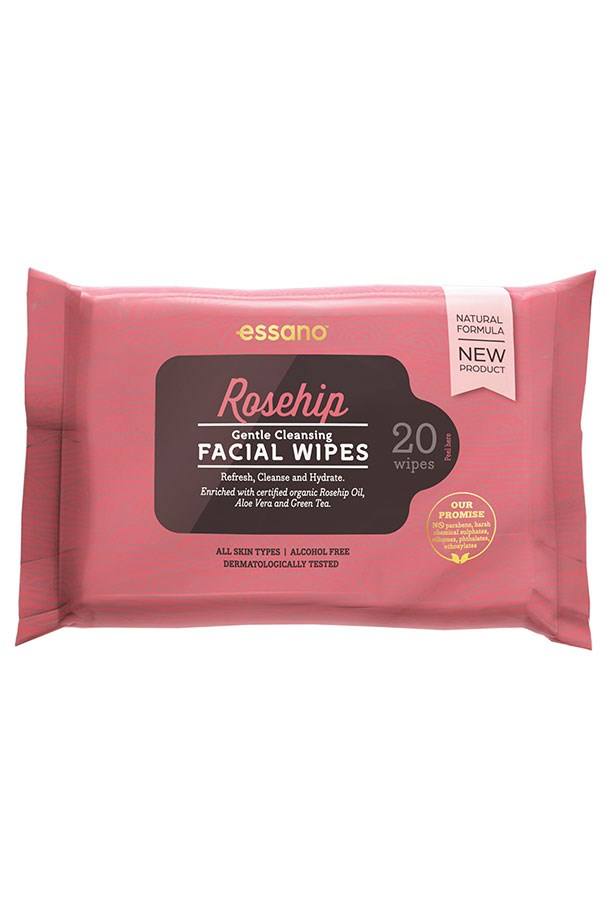 """<strong>For dry skin</strong> <br> <br> Loaded with rosehip oil (aka: Miss Congeniality of ingredients) these clean away makeup without leaving you the least bit tight or irritated. They smell amazing too. <br> <br> <em><a href=""""https://www.priceline.com.au/brand/essano/"""">Gentle Cleansing Facial Wipes, Essano</em> </a>"""