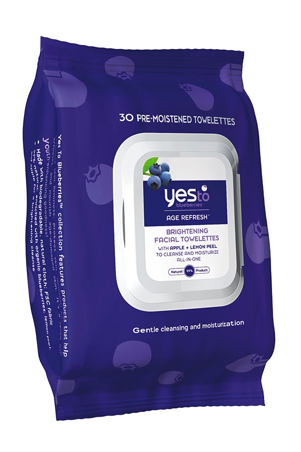 """<strong>Brightening booster</strong> <br> <br> These 99% natural wipes feature blueberry, lemon and apple fruit acids, all pro-favourite ingredient's for brightening the skin and giving it a radiant glow. <br> <br> <em><a href=""""http://www.amcal.com.au/yes-to-blueberries-cleansing-facial-wipes---25-wipes-p-815921013363?cm_mmc=GooglePLA-_-NA-_-Yes+To-_-815921013363&mkwid=sF9CWBuo7_dc&pcrid=65807436998&pkw=&pmt=&plid=&gclid=Cj0KEQjw04qvBRC6vfKG2Pi0_8gBEiQAAJq0vaP4ABTXw5kUIgGaB4XXANfyjOfBgVueuxAO7E22M-gaAqWW8P8HAQ"""">Yes To Blueberries Cleansing Facial Wipes, Yes To</a></em>"""