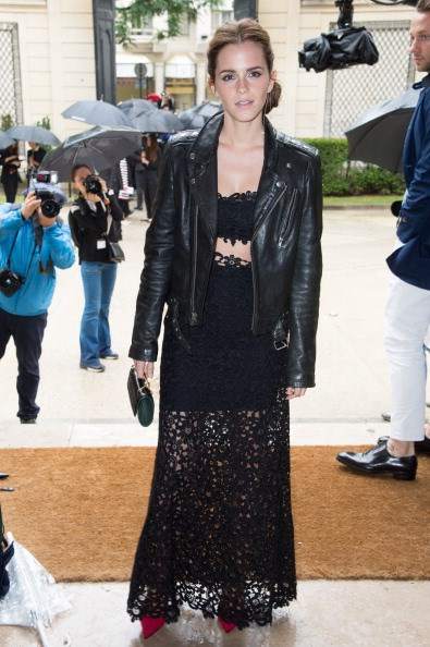 <p><strong>JULY 9, 2014</strong></p> <p>In Valentino at the Valentino Couture show at Paris Fashion Week.</p>