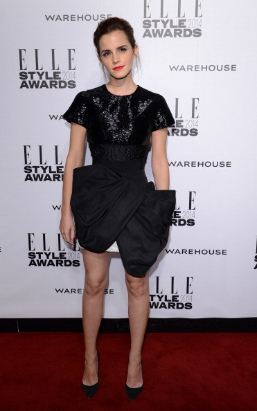 <p><strong>FEBRUARY 18, 2014</strong></p> <p>In a Giambattista Valli Haute Couture dress with Christian Louboutin shoes at the ELLE Style Awards in London.</p>