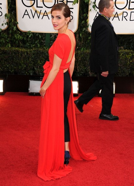 <p><strong>JANUARY 12, 2014</strong></p> <p>In a Dior Couture dress and pants with Roger Vivier shoes and Dior earrings at the 71st Annual Golden Globe Awards in Los Angeles.</p>