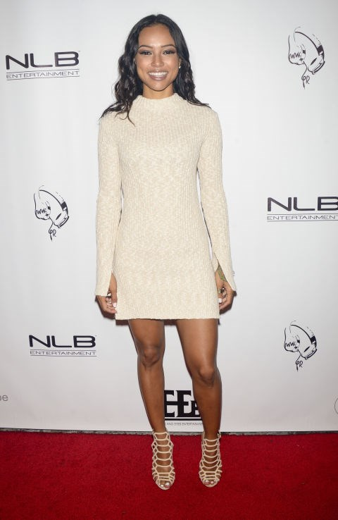 KARRUECHE TRAN At Diddy and Friends #FINNAGETLOOSE VMAs After Party GETTY