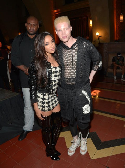 TINASHE AND SHAUN ROSS At the Jeremy Scott and Adidas Originals VMAs After Party. GETTY