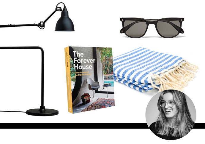 "Claudia Jukic, editorial and fashion news coordinator/PA to Justine Cullen<br><br> Something to inspire Dad's never ending house renovations.<br> The Forever House: Time Honoured Australian Homes by Cameron Bruhn and Katelin Butler, $70, <a href=""http://livingedge.com.au/shop/387-the-forever-house.html"">livingedge.com.au</a> <br><br> The perfect (not-so-subtle) hint that he should really stop wearing his (circa 2001) sunglasses Sunglasses, $395, Garett Leight California Optical,<a href=""http://www.mrporter.com/en-au/mens/garrett_leight_california_optical/bentley-square-frame-acetate-sunglasses/607588""> mrporter.com</a> <br><br> A little bit of everyday luxe for pa. Towel, $19.95, Hammam34, <a href=""http://store.beckerminty.com/hammam34-turkish-hand-towel-shaken-not-stirred-handloomed-pure-fine-cotton-made-in-turkey-%28as-towels-are-hand-loomed-there-may-be-slight-variations-in-actual-size%29-80cm-x-40cm/dp/30942"">beckerminty.com </a> <br><br> I'll probably buy this… then use it myself. Lamp, $915, Spence & Lyda, <a href=""http://www.spenceandlyda.com.au/gras-table-light-black-satin-p-4098.html"">spenceandlyda.com.au</a>"