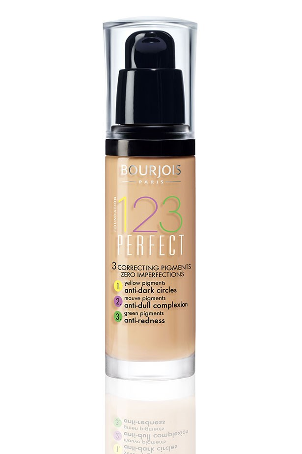 """<a href=""""https://www.priceline.com.au/bourjois-1-2-3-perfect-foundation-30-ml""""><strong>1 2 3 Perfect Foundation, BOURJOIS</strong></a> <br> <br> <em>This light-to-medium coverage foundation features genius colour-correcting particles that adjust on your skin to cover redness, sallowness and discoloration. A great all-rounder for the girl who isn't into  the idea of layering multiple products across her face but still wants a semi-perfected look.  </em>"""