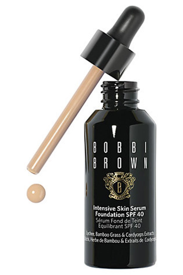 """<strong><a href=""""http://www.bobbibrown.com.au/product/14017/35675/Makeup/Face-and-Cheek/Foundation/Intensive-Skin-Serum-Foundation-SPF-25/New"""">Intensive Skin Serum Foundation SPF 25, Bobbi Brown</a></strong> <br> <br> <em>A foundation that moonlights as a hydrating serum. This silky-finish base brightens the complexion straight away, while the anti-aging ingredients within (bamboo grass, and cordyceps mushroom extracts) work deeper for younger-looking skin over time. </em>"""