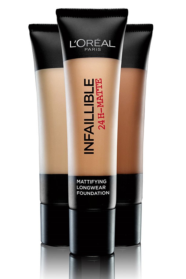 """<a href=""""https://www.priceline.com.au/cosmetics/face/foundation/l-oreal-paris-infallible-matte-foundation-35-ml""""><strong>Infallible Matte Foundation, L'Oreal Paris</strong></a> <br> <br> <em>Oily skin usually have to stick by full coverage foundations purely for their mattifying effects, but this medium base is shaking things up. after applied it resists heat, humidity and shine but never looks flat or thick on the skin. It's the anti-shin, anti-matte, matte foundation. </em>"""