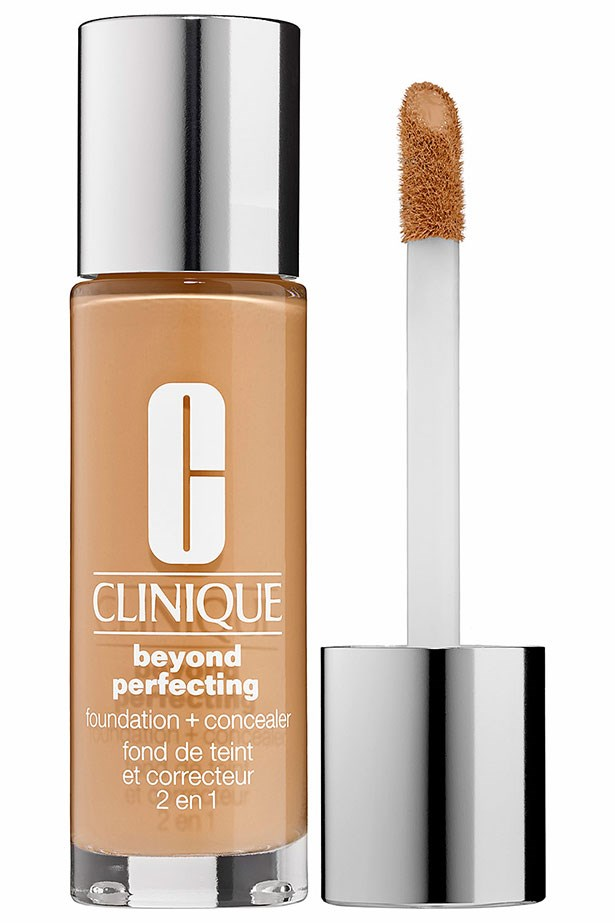 """<strong><a href=""""https://www.clinique.com.au/product/1599/34817/Makeup/Foundations/Beyond-Perfecting-Foundation-and-Concealer"""">Beyond Perfecting Foundation and Concealer, Clinique </a></strong> <Br> <br> <em>One of the best all-rounder bases to hit the market in a while, this full coverage foundation can be layered lightly across the face and then built up on tougher areas to completely cover redness and under-eye circles. Plus the handy lip-gloss-like applicator means you never use too much.   </em>"""