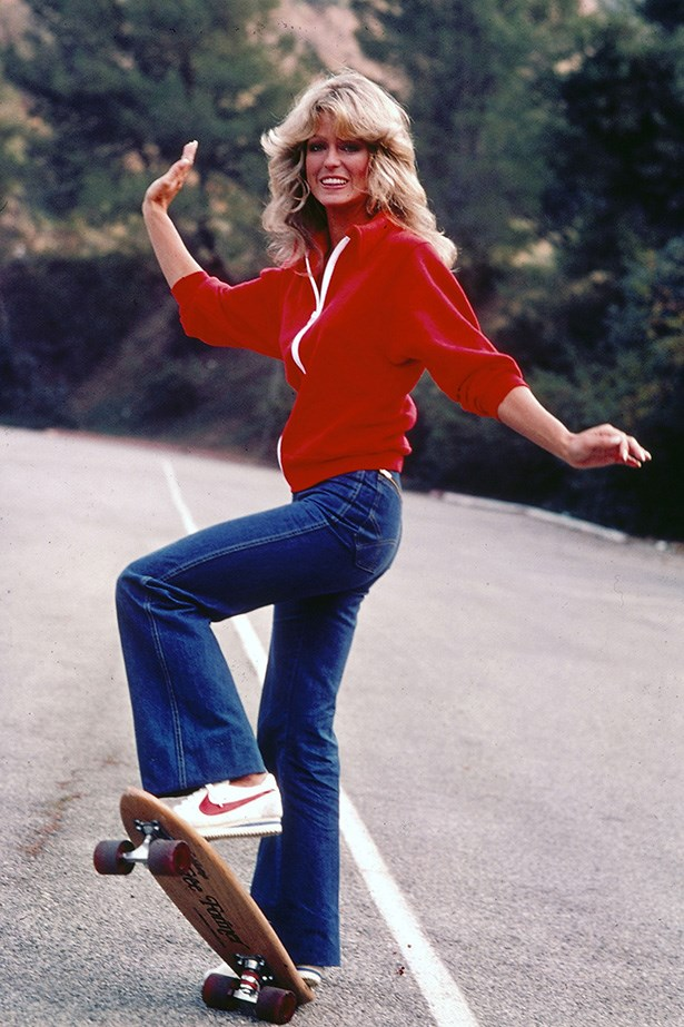 Farrah Fawcett's flares in Charlie's Angels = jean goals.