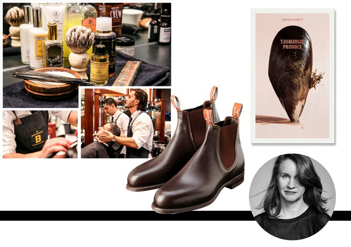 "Juanita Field, acting associate art director Friends have opened a cool Barbershop in the city and I'd love to take Dad for a treat!<br><br> Barbershop gift voucher,  <a href=""http://www.barberhood.com.au/"">Barberhood</a> Dad has hinted he needs some new 'going into town' boots.<br><br> RM Williams Boots, $475,  <a href=""http://www.rmwilliams.com.au/e-SalesB2CProd/esa/ItemDetails.jsp?@where.ItemID@EQ=BX530YFPW&sessionkey=J1KO-TOSN-5MK4-KAYT-2P99-DX0C-7FZQ-9EKV"">RM Williams</a><br><br> Dad and his wife are planning a road trip around Tasmania and love to eat local produce. I thought this handy book would inspire them on their travels.<br><br> The Field Guide to Tasmanian Produce, $25, <a href=""http://www.thefieldguides.com.au/product/the-field-guide-to-tasmanian-produce/"">Field Guide To Tasmanian Produce</a>"