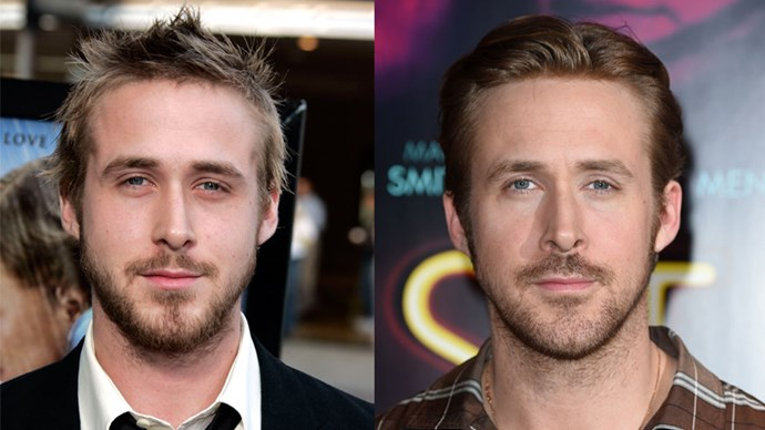 <strong>Ryan Gosling</strong> <BR> <BR> <strong>Then:</strong> Noah stole our hearts in <em>The Notebook</em>. <BR> <BR> <strong>Now:</strong> besides his lovely abs in <em>Crazy, Stupid, Love.</em>, Ryan has also starred in blockbusters <em>The Place Beyond The Pines</em> and <em>Gangster Squad</em>.