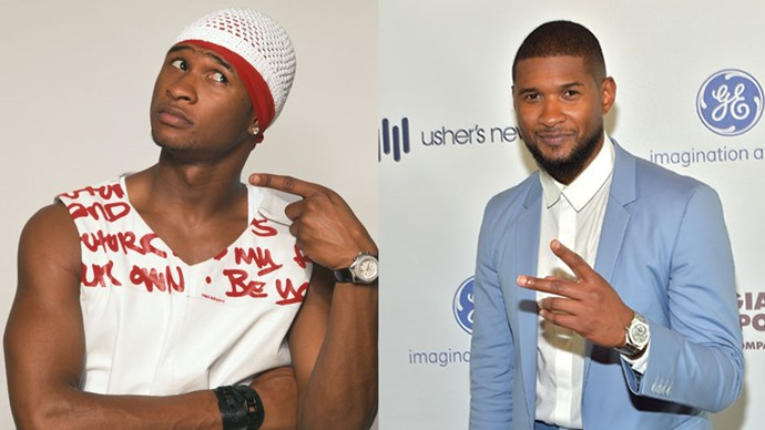 <strong>Usher</strong> <BR> <BR> <strong>Then:</strong> Who didn't put on their hipster jeans and going out top and get down at the club/blue light disco to <em>U Got It Bad</em> circa 2001? <BR> <BR> <strong>Now:</strong> Still got the swagger, in SPADES.