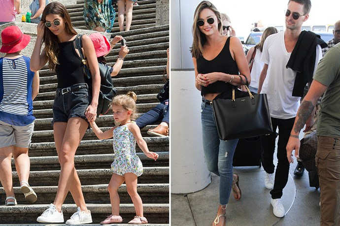 <p><strong>12. Trusty Black Singlet </strong></p> <p>This is something we all own and should not underestimate. Just look how great Miranda and Lily look and it's all thanks to a well-cut black singlet. Also, note to self: buy round RayBan sunglasses.</p>