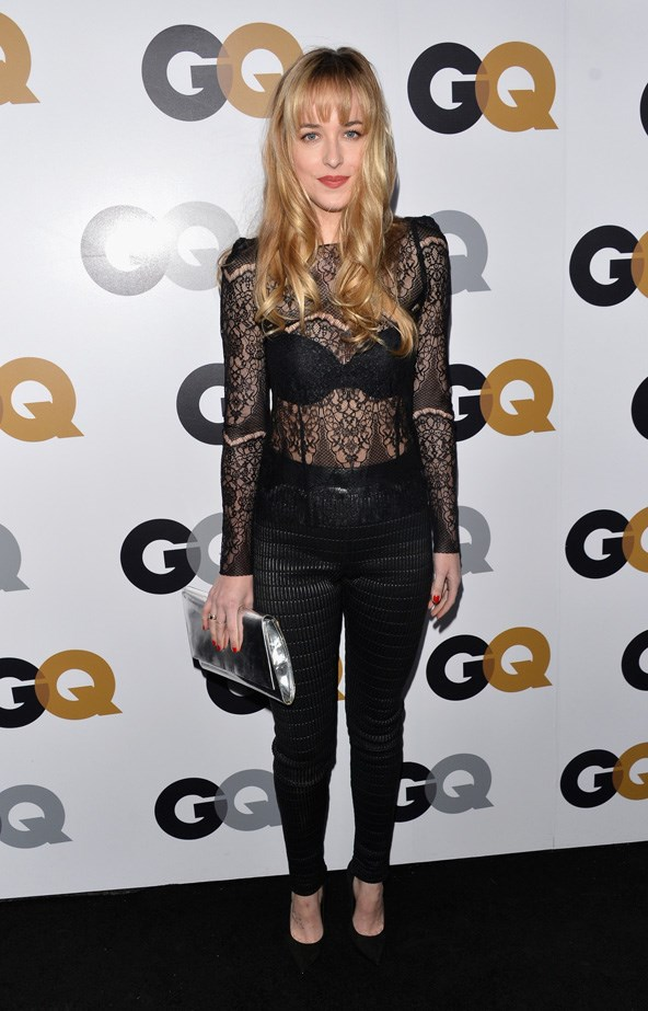 Dakota Johnson shows a little skin at the GQ Men of the Year Party 2012 at Chateau Marmont.