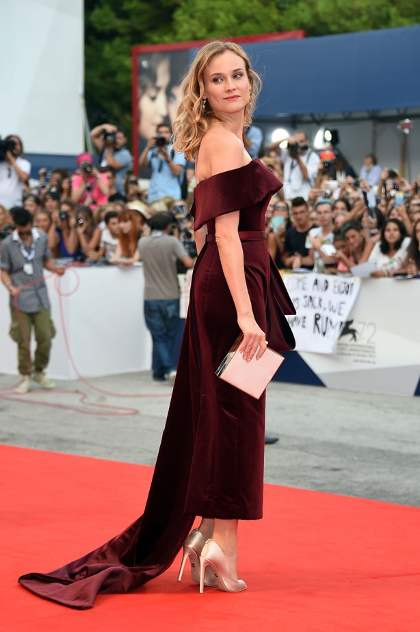 Here she is at this week's Venice Film Festival. Incred.