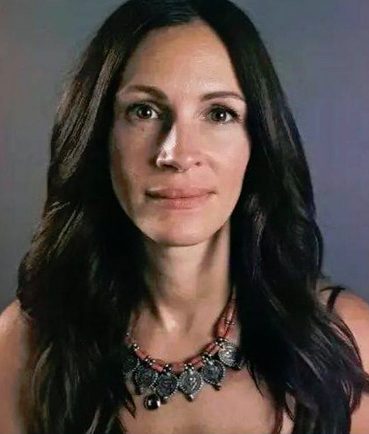 Julia Roberts posted this photo to her Instagram with this caption: Perfection is a disease of a nation. We overlay our faces with tons of make-up. We get botoxs and even starve ourselves to become that perfect size. We try to fix something but you can't fix what you can't see. It's the soul that needs the surgery. It's time that we take a stand. How can you expect someone else to love you if you don't love yourself? You have to be happy with yourself. It doesn't matter what you look like on the outside, it's whats on the inside that counts. Today, I want to put up a makeup-free photo. I know I have wrinkles on my skin but today I want you to see beyond that. I want to embrace the real me and I want you to embrace who you are, the way you are, and love yourself just the way you are. Go Julia!