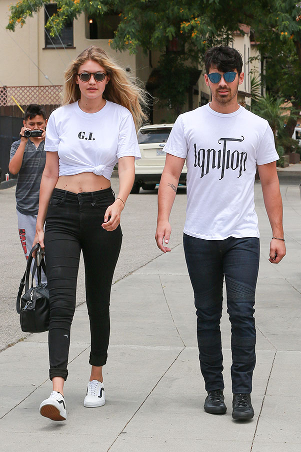 Gigi Hadid and Joe Jonas. Getty Images.