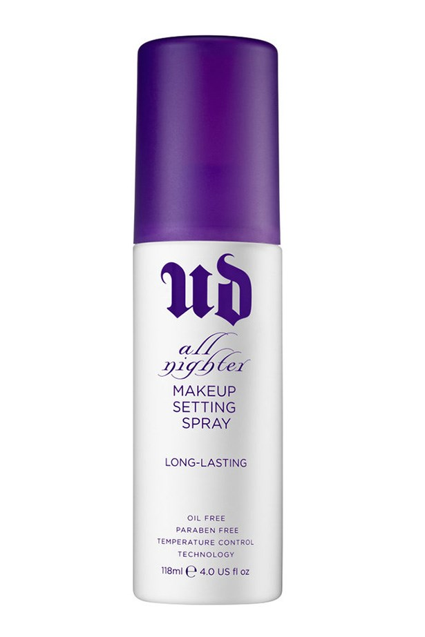 <strong>Shine free from dusk till dawn</strong> <br><br> Keep the shine at bay with a few sprays of the All Nighter Long-lasting Makeup Setting Spray, $44, <em>Urban Decay</em>, mecca.com.au. Two timing as a setting spray and makeup refresher it'll freshen up a lacklustre, 5pm face and have you ready for the night.