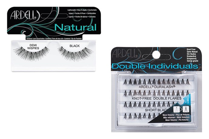 <strong>Lashings of lashes</strong> <br><br> For the ultimate party look, and A+ selfie game, fake it with some false lashes. Whether your one for all-out glamour, or prefer pared-back definition, there's something for every eye look. A classic strip lash screams bold and fabulous, while the individual varieties are perfect for a wispy, fluttery look. <br><br> (From left to right) Demi Wispies Black, $9.99, Ardell, (02) 8709 8800 and Double Individuals – Short, $10.99, Ardell, (02) 8709 8800