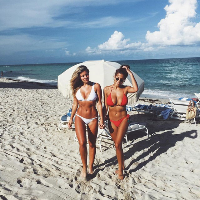 <p>Who: Natasha Oakley and Devin Brugman</p> <p>What: Believe it or not, sometimes these megababes wear clothes and attend fashion events.</p> <p>Handle: @tashanddev</p>