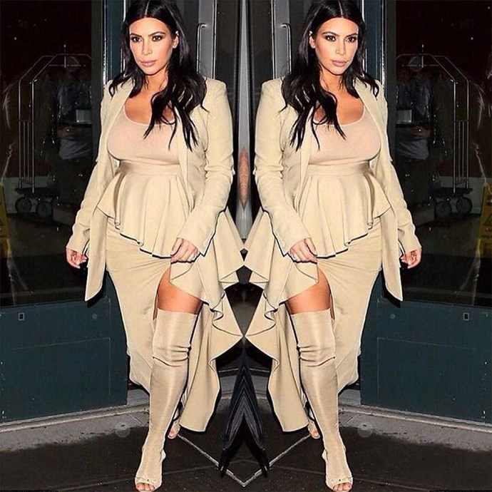 Kim Kardashian (@kimkardashian) 'TONIGHT- GIVENCHY X YEEZY'