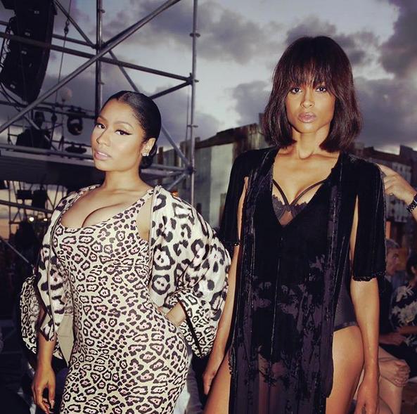 Nicki Minaj (@nickiminaj) 'You're a lucky man if u wake up to either one. #Givenchy'