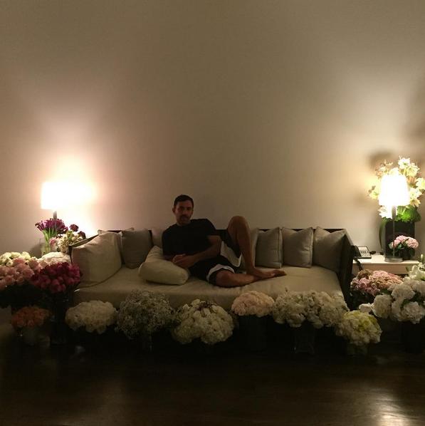 Riccardo Tisci (@riccardotisci17) 'Thank you for the flowers and LOVE #love #GRTnyc17 #POWEROFLOVE'