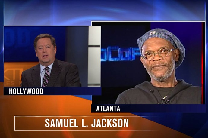 Oh lordy. That time a TV anchor confused Samuel L Jackson with Laurence Fishburne (asking him about a superbowl ad that Fishburne had been in)? This is what Jackson had to say: What Superbowl commercial? See, you're as crazy as the people on Twitter. I'm not Laurence Fishburne! We don't all look alike!