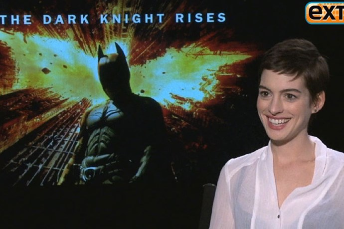 That time a(nother) interviewer asked Anne Hathaway, who was promoting The Dark Knight Rises about her underwear/fitness regime? He copped this awesome spray: Are you trying to lose weight? What's the deal man? You look great! Seriously, we have to talk about this. Are you trying to fit into a catsuit?