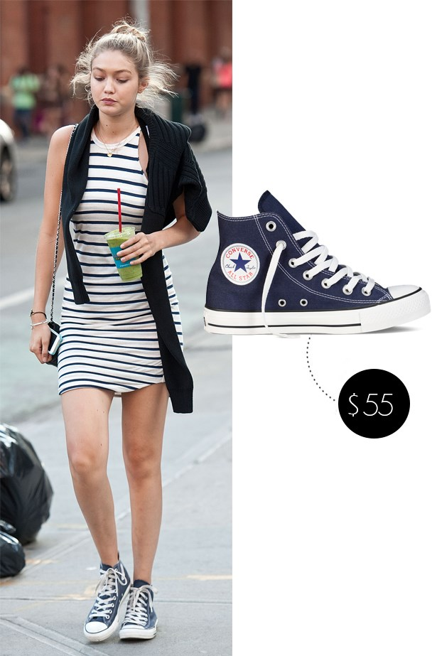"<a href=""http://www.theiconic.com.au/chuck-taylor-all-star-hi-184179.html?wt_se=au.sem_nonbrand.google.pla.adgroup.ad&kpid=CO986SH20MLV&kpid=CO986SH20MLV-789275&gclid=CL-5sful_ccCFYSXvQoddIsLGw""><strong>Converse Chuck Taylor All Star Hi Top in navy</strong></a>, $100"