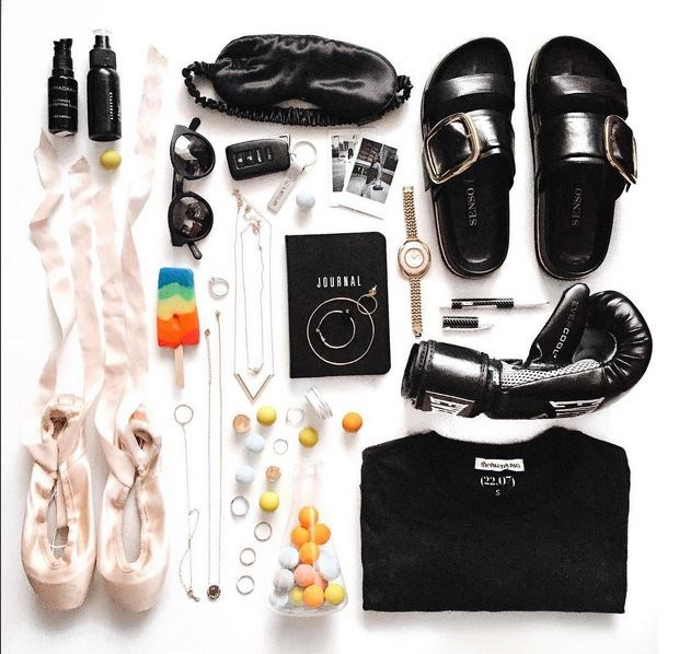 <strong>Stick to your theme.</strong> It's okay to mix your #ootd and flower picks, or accessories and magazines, but don't, like, put your shoes on the breakfast table. <br> <br> via @margaret__zhang