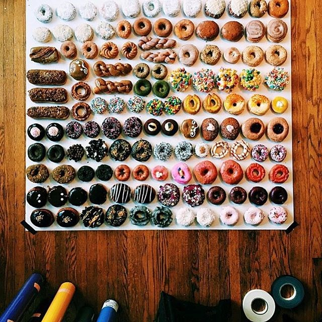 <strong>Let your inner clean freak out.</strong> If you've chosen to put heaps of stuff into your flatlay, try organising it for a clean (and satisfying) look. <br> <br> via @wrightkitchen