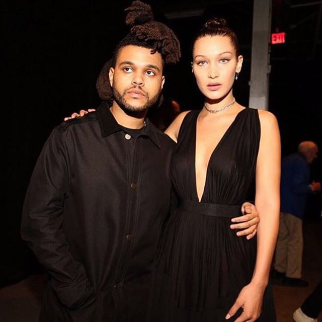 Bella Hadid and her new bae, the Weeknd.