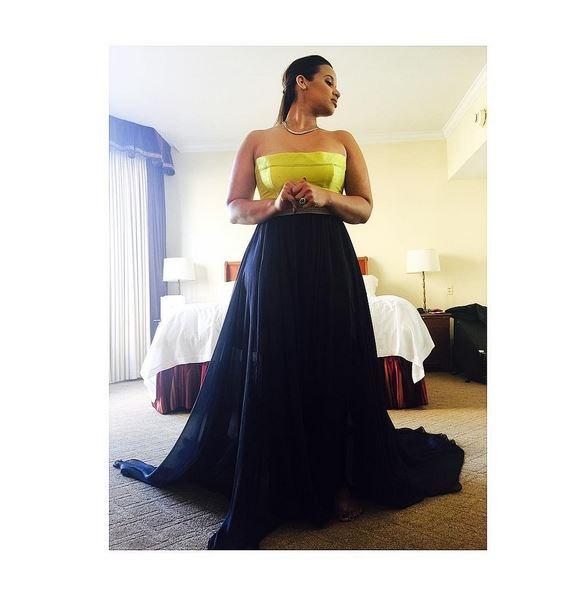 <strong>Dascha Polanco</strong> <br> <br> <em>Unveil your true self always... #Emmys @laura_zapata @leannemarshallofficial @oitnb</em>
