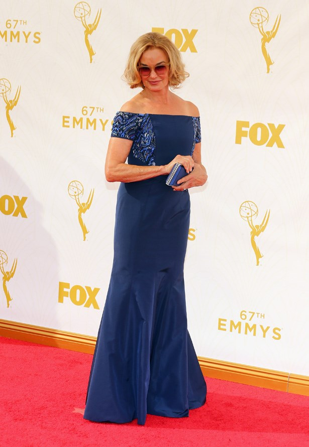 Jessica Lange is her ever sassy self on the red carpet.