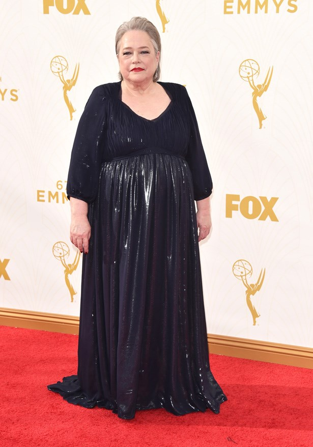 Kathy Bates looks ever timeless in this navy number.