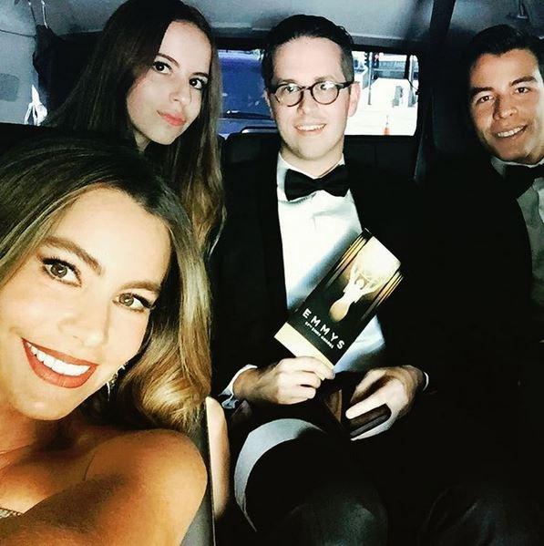 <strong>Sofia Vergara</strong> <br> <br> <em>On our way to the Emmys</em>