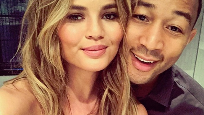 Chrissy Teigen and John Legend instagram selfie