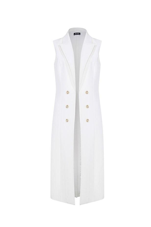 """<p>The Vest</p> <p><a href=""""http://www.bardot.com.au/Colette-Vest.aspx?p559460&cr=034918"""">Bardot Floor Length Vest</a></p> <p>$129.95</p>"""