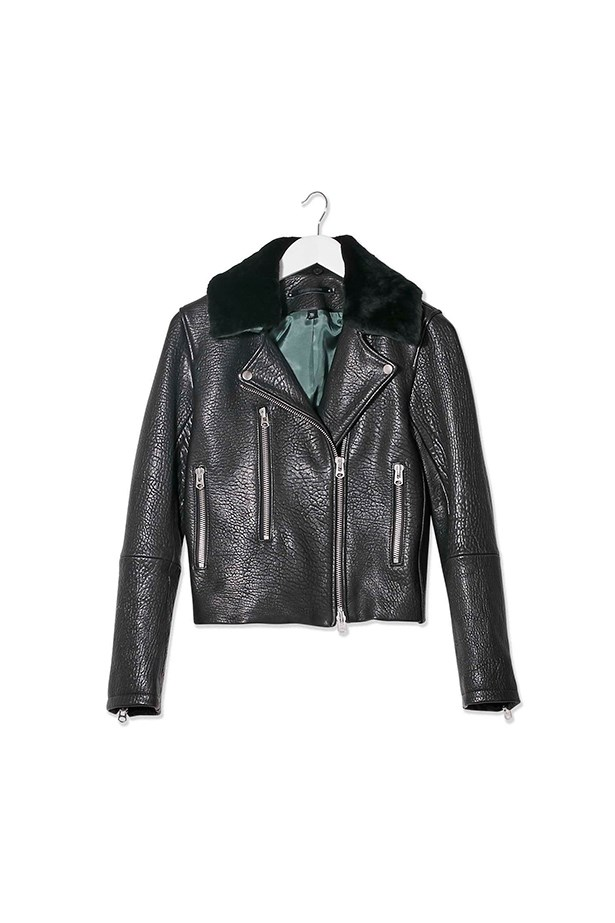 "<p>The Biker Jacket</p> <p>Toscana Collar Biker Jacket by <a href=""http://www.topshop.com/en/tsuk/product/clothing-427/jackets-coats-2390889/biker-jackets-3111100/toscana-collar-biker-jacket-by-boutique-4739336?bi=1&ps=20"">Topshop Boutique</a></p> <p>$295</p>"