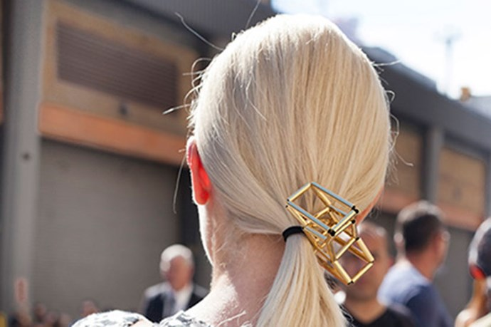 <strong>Hair Accessories Welcome </strong> <br> <br> FACT: Street style ponies are never plain.