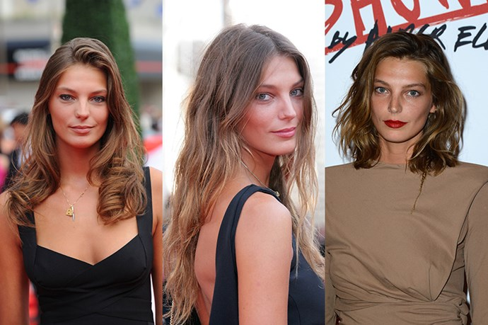 <strong>Daria Werbowy</strong> <br> <br> The Ukrainian model's trademark nonchalance, always adds a touch of cool to whatever hairstyle she's sporting. While as a supermodel and Lancôme spokesperson was known for her flowing, casual, brunette hair, she's experimented with  various textures and lengths – like beachy waves in 2009, before dramatically undergoing the chop in favour of a shoulder-length shaggier do' in 2013. While it was a brave choice at the time– this was before everyone had the lob,  it perfectly encapsulates Daria's rock chick, I-woke-up-like-this vibe.