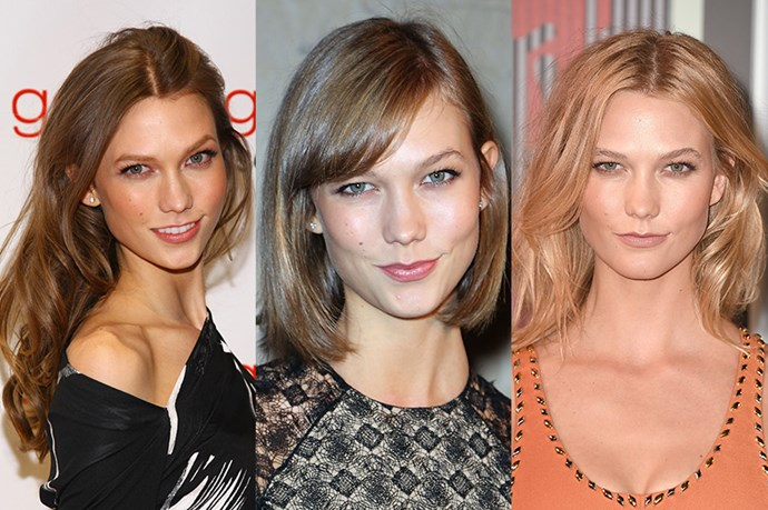 <strong>Karlie Kloss</strong> <br> <br> Another person that could do no wrong when it comes to hair – supermodel, entrepreneur and expert coder-in-the-making Karlie Kloss, along with her killer bone structure, could pull anything off. Casting off her long, brunette hair circa 2014, Kloss has since embraced shorter cuts for example her straight-edged bob – which was so iconic it was dubbed 'The Karlie' , before graduating, to the celebrated lob – while also embracing a light colour in 2015 – perhaps at the recommendation of best friend Taylor Swift.
