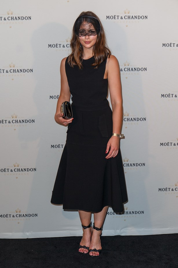Sara Donaldson of Harper and Harley went with classic black for Stakes Day last year. She wore a flared dress with a sweet lace headpiece over her eyes. Simple but chic.