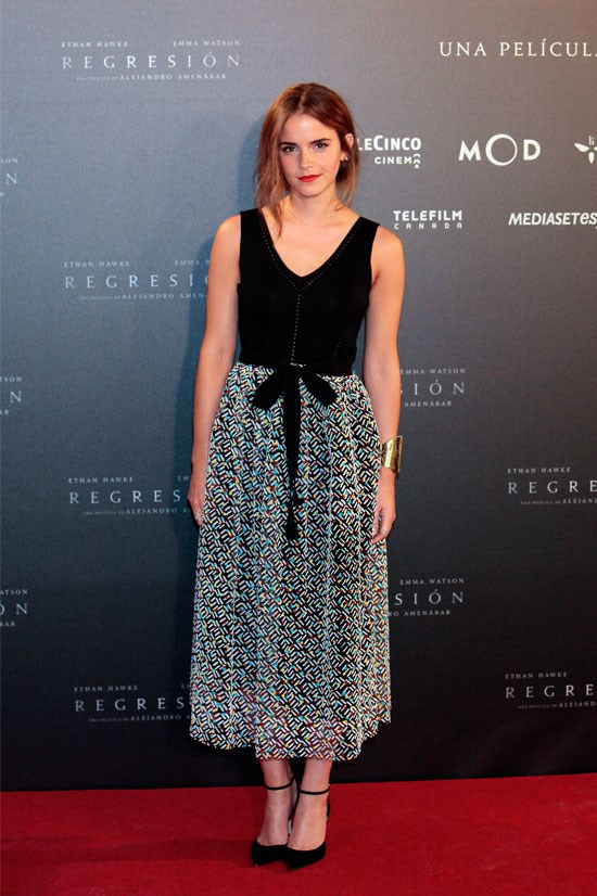 """<strong>EMMA WATSON</strong> <BR> <BR> """"Men think it's a women's word. But what it means is that you believe in equality, and if you stand for equality, then you're a feminist. Sorry to tell you. You're a feminist. You're a feminist. That's it."""" <BR> <BR> — in conversation with <a href=""""https://www.youtube.com/watch?v=LNi9Ypc0cg8"""">HeForShe on International Women's Day</a>, March 2015"""