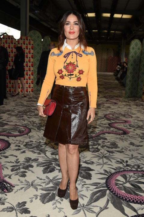 <strong>SALMA HAYEK</strong> <BR> At Gucci.