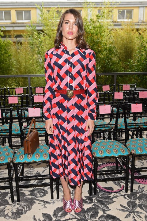 <strong>CHARLOTTE CASIRAGHI</strong> <BR> At Gucci.